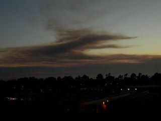 Smoke in sky
